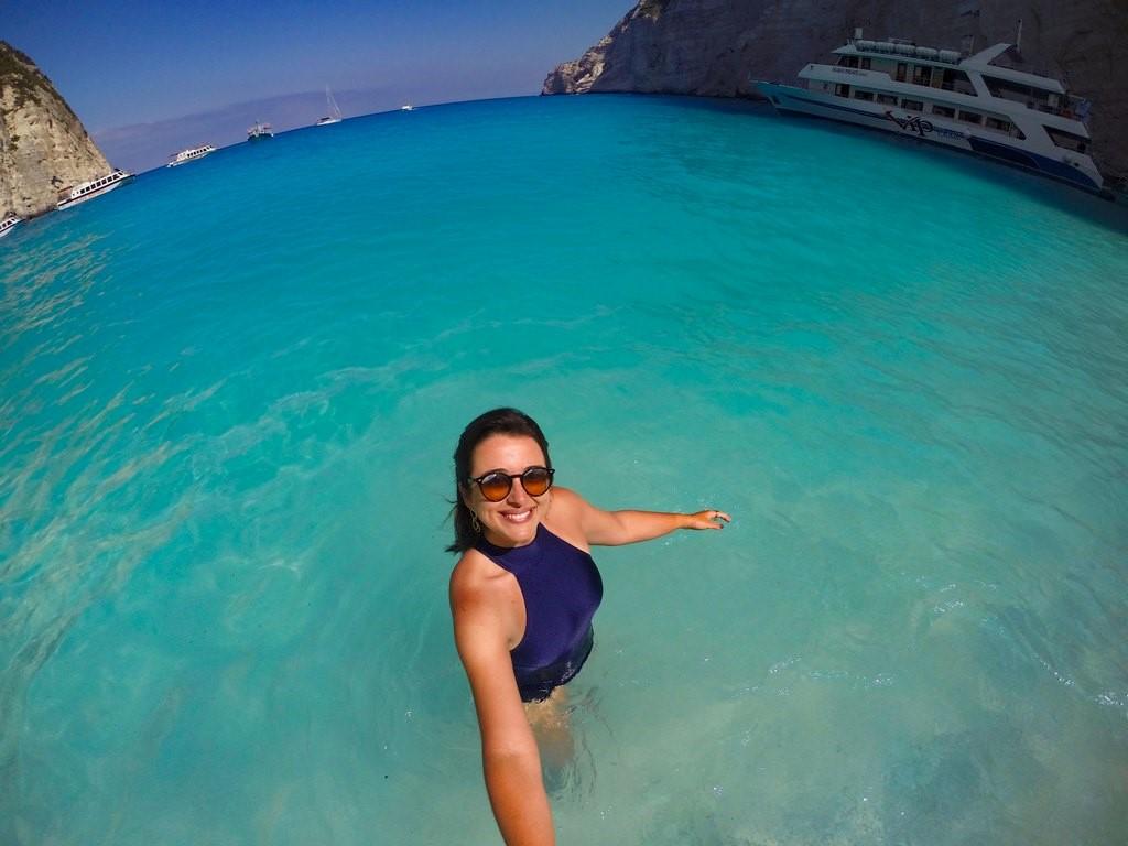 Primeira coisa feita em Zakynthos: mergulhar na Navagio Beach