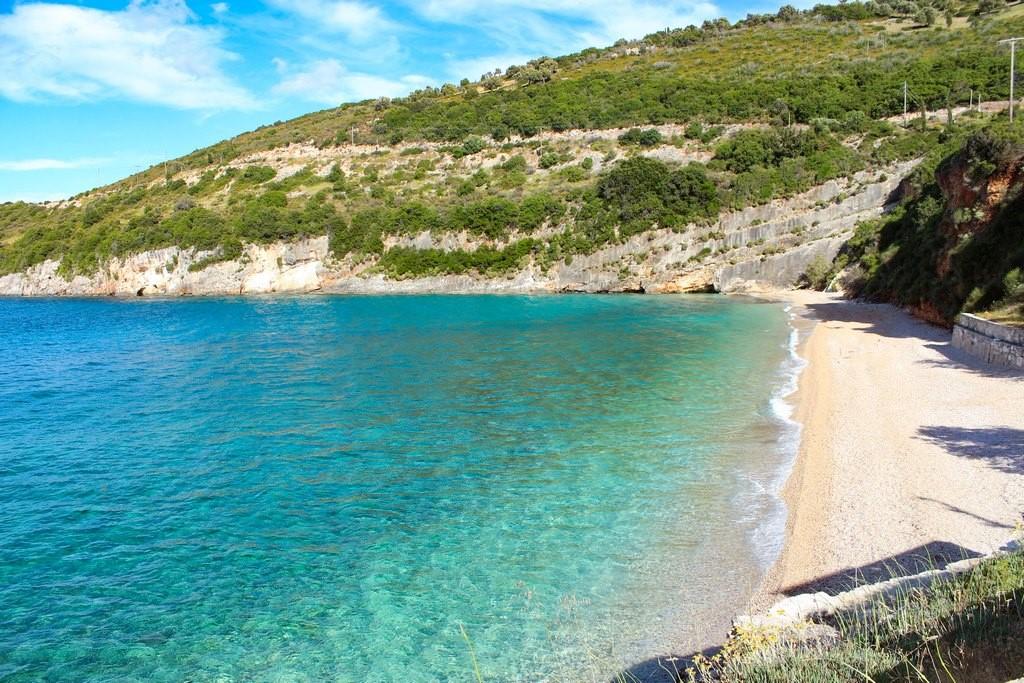 Praia de Makris Gialos, linda e só para a gente!