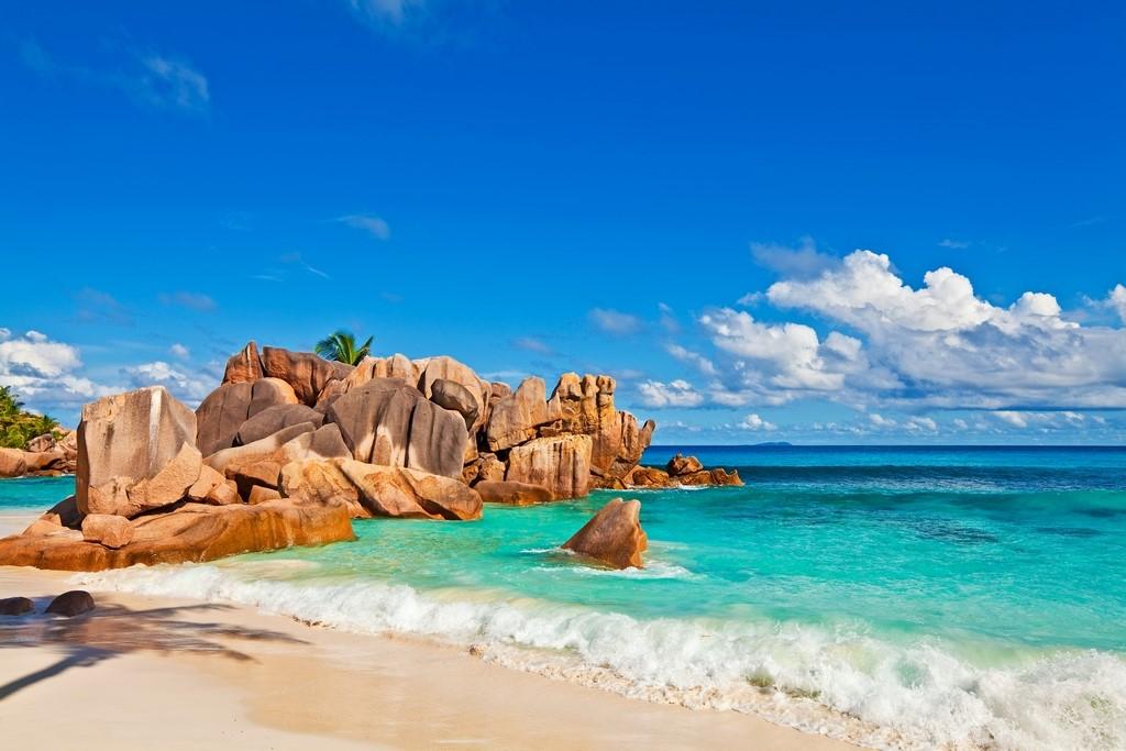 Anse Lazio Beach na Ilha Praslin em Seychelles