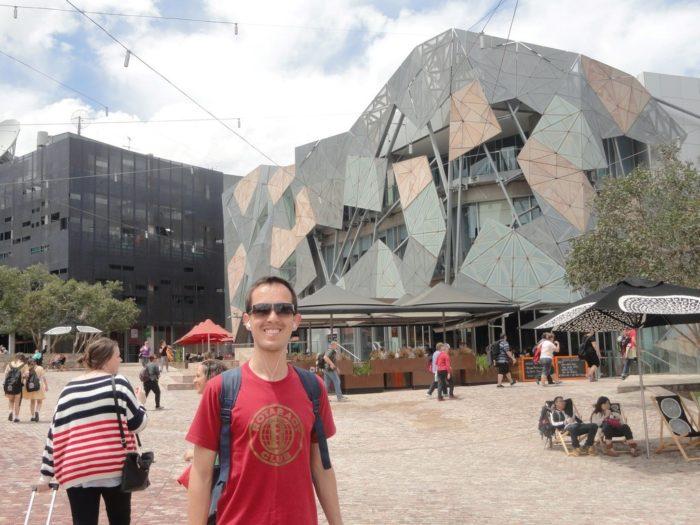 Federation Square, principal ponto turístico de Melbourne