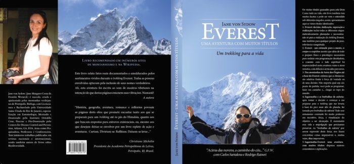 Livro Everest - Frente e verso