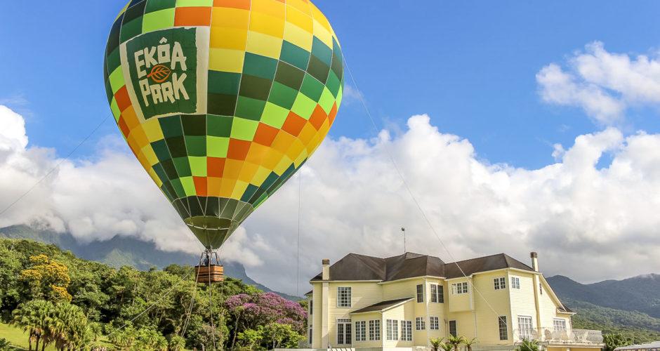 Voo de balão no Ekoa Park, em Morretes - PR