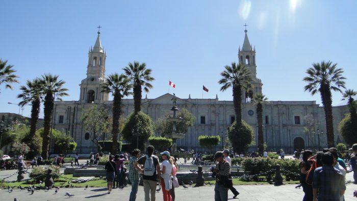 Plaza de Armas em Arequipa