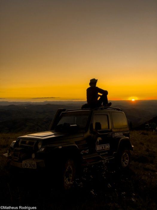 Pôr do sol em Aiuruoca