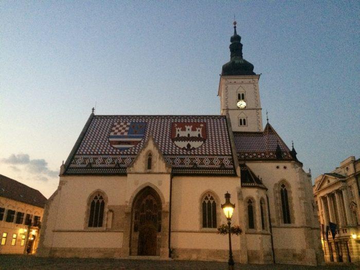 Croácia - Igreja de São Marcos em Zagreb