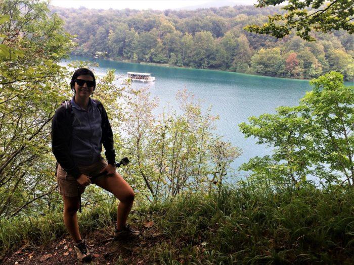 Vista superior dos lagos na Croácia