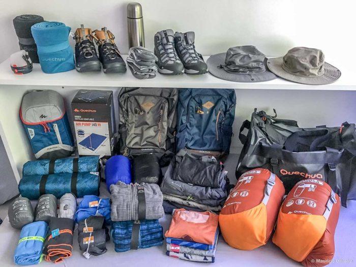 Equipamentos de Camping da Quechua (Decathlon)