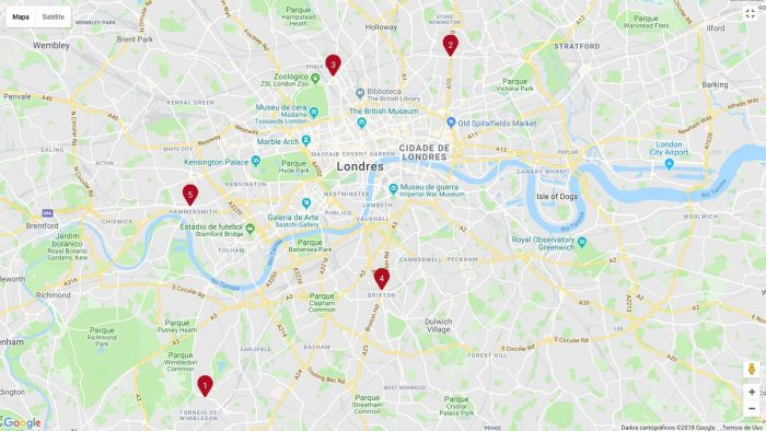 Bairros em Londres