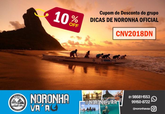 CUPOM DE DESCONTO de 10% para o passeio de canoa havaiana em Fernando de Noronha